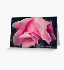 Curly Pink Rose Greeting Card