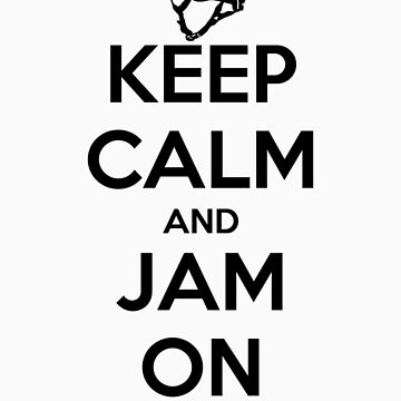 Keep Calm and Jam On Decal by five5six