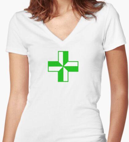 Pharmacy Women's Fitted V-Neck T-Shirt