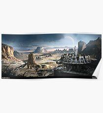 Planetside 2 - Scenery - Indar Canyon Poster