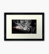 Fish Stall Framed Print