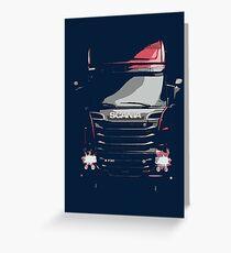 Scania Trucker Greeting Card