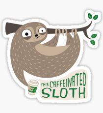Caffeinated Sloth Sticker