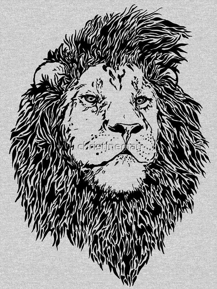 King of the Jungle, Lion in Black & White  by christinemay