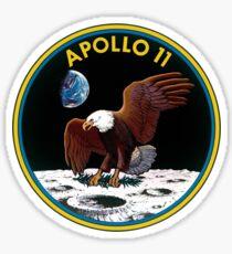 Pegatina Apollo 11 Mission Logotipo