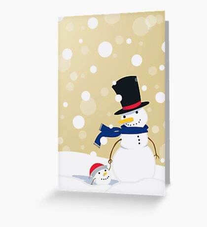 Father Frosty Greeting Card