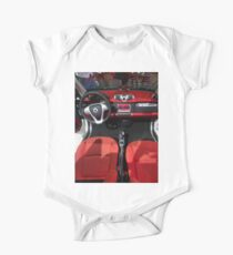 Smart ForTwo Turbo Cabrio Tritop Inside [ Print & iPad / iPod / iPhone Case ] One Piece - Short Sleeve
