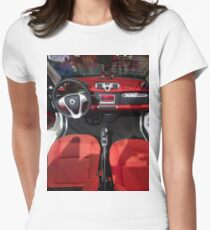 Smart ForTwo Turbo Cabrio Tritop Inside [ Print & iPad / iPod / iPhone Case ] Womens Fitted T-Shirt