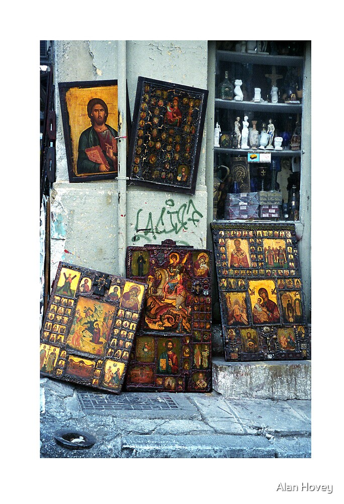 Icons in Athens by Alan Hovey