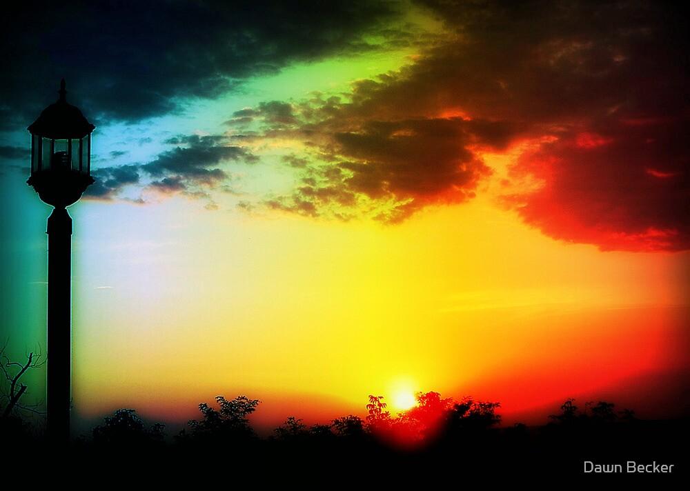 Dawn breaking © by Dawn Becker