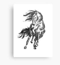 Sumi-e Horse Metal Print