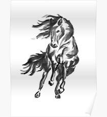 Sumi-e Horse Poster