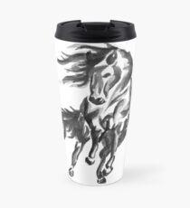 Sumi-e Horse Travel Mug