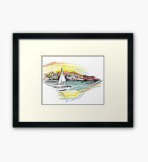 Sailing from Donsö harbor Framed Print