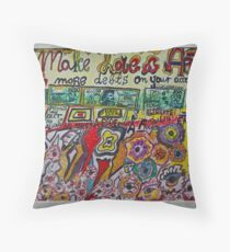 Views 1366. Make Love & Art ,  No more debts on your account. Amen!  by Andrzej Goszcz.  was featured in Diversuality – Queer and Gender. Buy what you like!  Throw Pillow