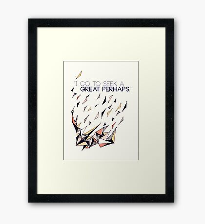 The Great Perhaps Framed Print