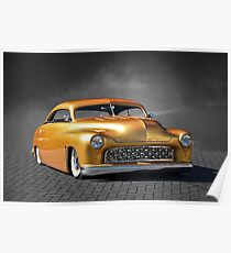1950 Mercury Custom on B/W Poster