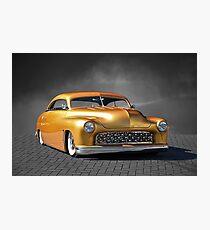 1950 Mercury Custom on B/W Photographic Print