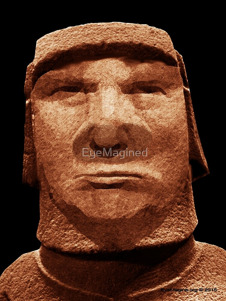 Trump Easter Island Head by EyeMagined