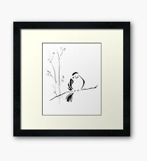 Sumi-e Bird Framed Print