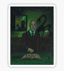 HP Lovecraft Portrait Sticker