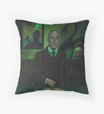 HP Lovecraft Portrait Throw Pillow