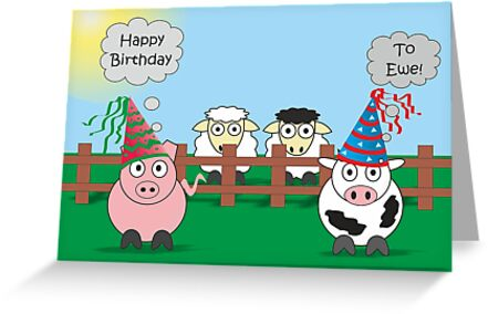 Funny animals birthday design hilarious rudy pig moody cow funny animals birthday design hilarious rudy pig moody cow by samantha harrison bookmarktalkfo Image collections