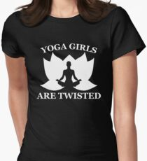 Yoga Girls Are Twisted. Asana Humor Womens Fitted T-Shirt