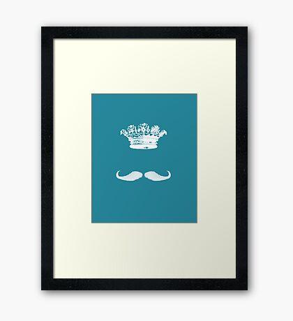 King Moustache I Framed Print