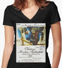 Chateau Mouton Rothschild Picasso Women's Fitted V-Neck T-Shirt