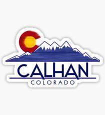 Calhan Colorado wood mountains Sticker