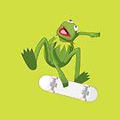 Skate Frog by Mark Walker