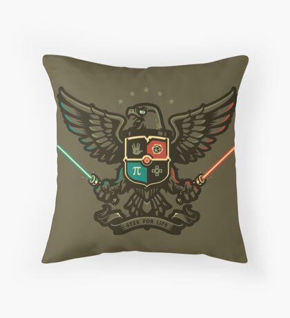 Geek For Life - POSTER Throw Pillow