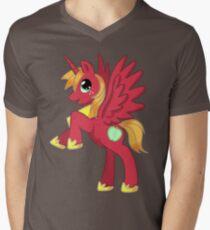Big Macintosh Alicorn MLP Mens V-Neck T-Shirt