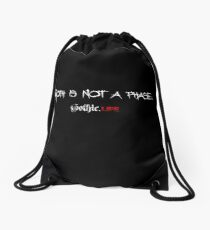 Goth is not a phase Drawstring Bag