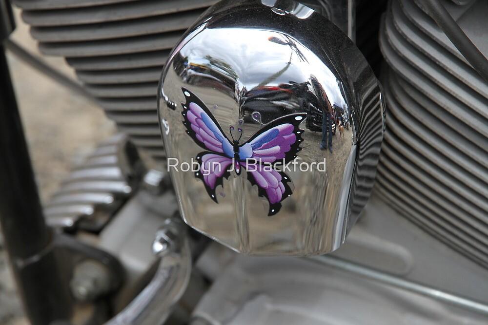 Purple Butterfly On Chrome by aussiebushstick