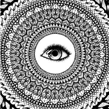 Eye See Mandala by HAMUSIT