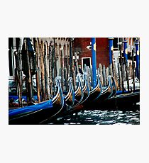 Gondolas Photographic Print