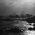 dusk splash by phillip wise