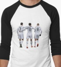 cristiano ronaldo and bale and benzema Men's Baseball ¾ T-Shirt