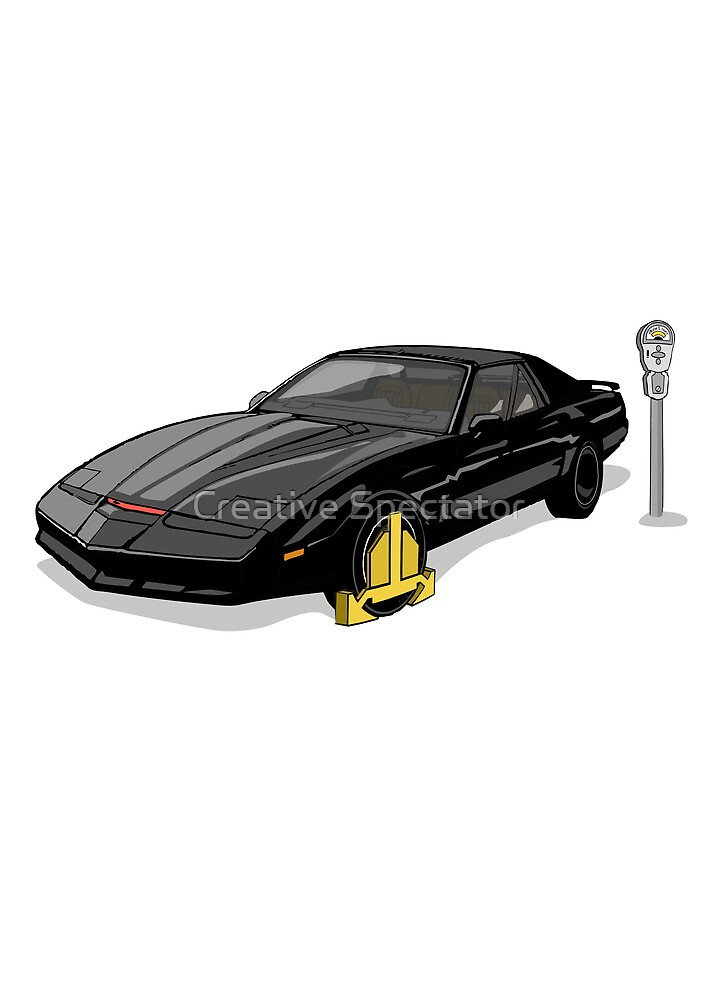Knight Rider KITT Car Wheel Clamp  by Creative Spectator