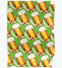 St. Patricks Day - Beer Pattern Poster