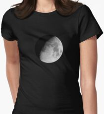 Waxing Gibbous Moon Women's Fitted T-Shirt