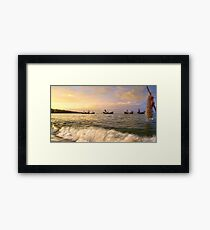 Local fishery Framed Print