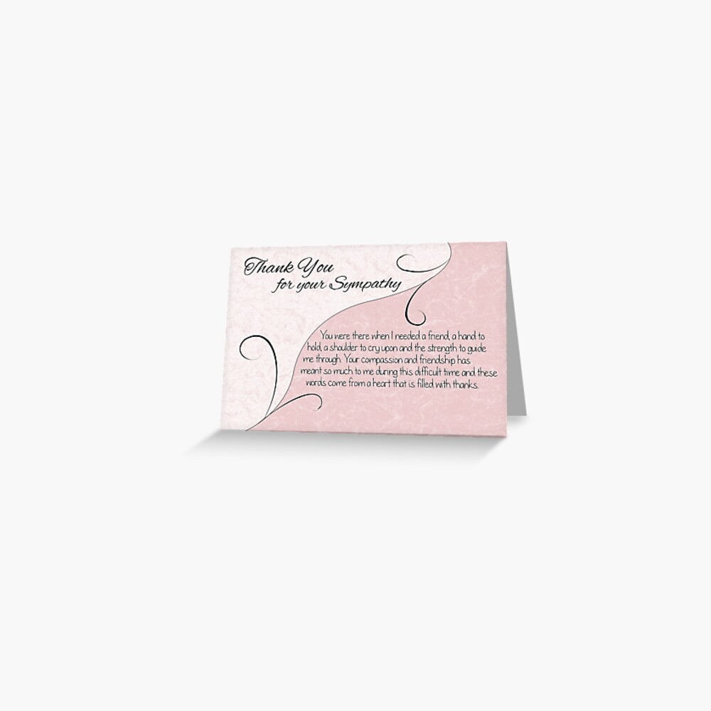 """""""thank you sympathy card  pastel pink with vintage"""