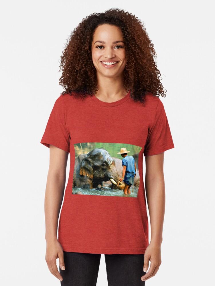 Alternate view of Bath Time Tri-blend T-Shirt