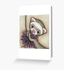 Ferret Toy Greeting Card