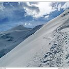climbing weissmies by paolo amiotti
