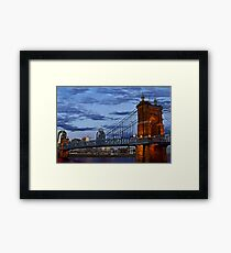 Roebling Bridge Cincinnati Framed Print