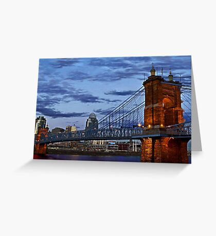 Roebling Bridge Cincinnati Greeting Card